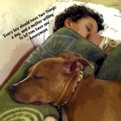 AGREED!!  Every CHILD needs a dog!  (provided they are super allergic, of course)  My boy LOVES his Ripper