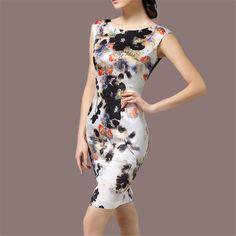 Высокое Качество Весна Лето Женщин Платья Без Рукавов Винтаж Высокого класса Цветочный Женщины Шелковый Партия Sexy Dress Femme Vestidos Плюс размер купить на AliExpress