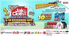 Yuk Ikutan Kontes Ambassador JakCloth dan dapetin uang tunai Rp 10 juta, 2 unit Samsung J3 Pro, 1000 ID Card Ambassador + 1000 kaos long sleeve JakCloth !!!