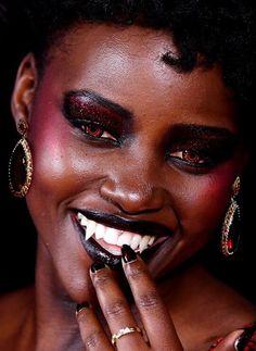 "neguinhxx: ""Black Vampires on Halloween. My collection for Black is Beautiful. Homestuck, Vampires, Rose Lalonde, Pretty People, Beautiful People, Howleen Wolf, Black Vampire, Catty Noir, Mileena"
