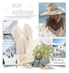 """""""Sun Sational"""" by thewondersoffashion ❤ liked on Polyvore featuring Topshop, SHE MADE ME, Balenciaga, Fendi and Ancient Greek Sandals"""