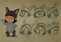 #character #design #reference #model #sheet #kids #girl #little #expression #cartoon #animation #sketch #draw #concept  More: https://www.facebook.com/BeaIllustration