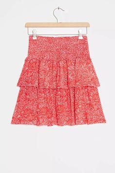 Jennalyn Tiered Mini Skirt | Anthropologie UK