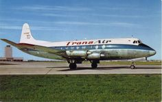 Transair , a Canadian Regional Carrier in 1960's. Viscount at YWG.