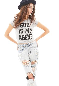 Kinda on the fence about this one though... || God Is My Agent Tee #MustHave #GraphicTee
