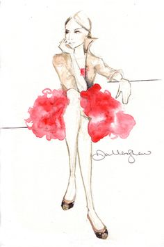 Fashion Vintage Illustration -Faison piece by Dallas Shaw. Dallas Shaw is my new favorite artist.