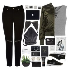 """""""Destination //"""" by pyrvmidss ❤ liked on Polyvore featuring Kara, Topshop, Oasis, NIKE, Calvin Klein, October's Very Own, Casetify, Byredo, Marc Jacobs and Lux-Art Silks"""