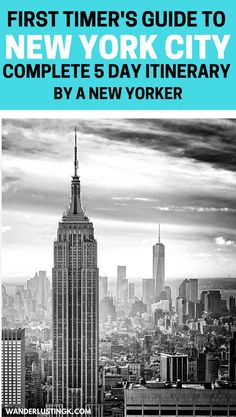 A complete guide on what to do for a 5 day trip to New York City by a New Yorker with a suggested itinerary for five days in NYC and budget. - Travel New York - Ideas of Travel New York New York Vacation, New York City Travel, New York Day Trip, Day Trip To Nyc, Empire State Building, Central Park, Nyc Itinerary, A New York Minute, Voyage New York