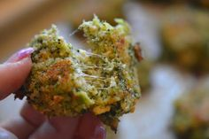 Oven Fried Broccoli Bites