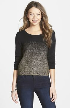 Frenchi® Foil Print Pullover (Juniors) available at #Nordstrom