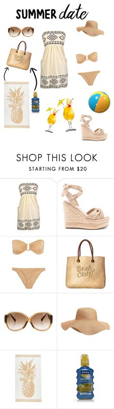 """Contest: Summer date"" by halfbloodtogepi ❤ liked on Polyvore featuring Kendall + Kylie, Melissa Odabash, White Stuff, Louis Vuitton, Old Navy and Nivea"