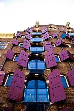 Purple shutters