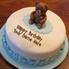 Best Website for name birthday cakes. Write your name on Teddy Bear Birthday Cakes picture in seconds. Make your birthday awesome with new happy birthday greetings cakes. Get unique happy birthday cake with name. Birthday Cake For Son, Teddy Bear Birthday Cake, Birthday Cake Write Name, Cartoon Birthday Cake, Friends Birthday Cake, Happy Birthday Cake Images, Teddy Bear Cakes, Birthday Cake Pictures, Cake Name