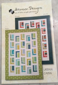 A personal favorite from my Etsy shop https://www.etsy.com/listing/224573893/free-shipping-for-urban-cabin-quilt
