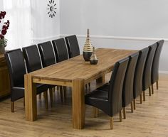 Madrid 300cm Dining Table with 10 Venezia   Brown Chairs