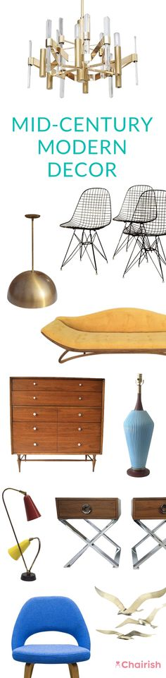 Were mad for the sharp silhouettes, low-slung ease and warm tones inherent in Mid-Century Modern design. Score a classic from our stash. Were mad for the sharp silhou Mid Century Modern Decor, Mid Century Modern Furniture, Mid Century Design, Vintage Furniture, Home Furniture, Interior Exterior, Mellow Yellow, My New Room, Interiores Design