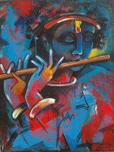 Cute Krishna, Krishna Art, Shree Krishna, Radhe Krishna, Indian Art Paintings, Abstract Paintings, Krishna Painting, Krishna Pictures, Angel Art