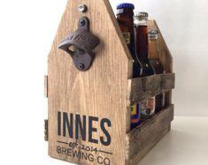 Cerveza cerveza madera sostenedor abrelatas de por FreestyleMom