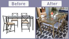 Awesome My First Ikea Hack Our Granas Chairs Were In Desperate Beutiful Home Inspiration Aditmahrainfo