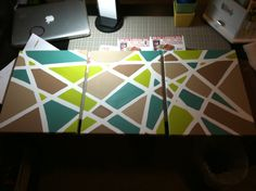 Painters Tape Diy Canvas And Canvas Paintings On Pinterest