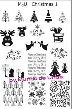 MdU Stamping Plate - Christmas 1
