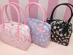 Little twin stars bags Kawaii Bags, Kawaii Clothes, Aesthetic Japan, Pink Aesthetic, Kawaii Fashion, Lolita Fashion, Visual Kei, Sanrio, Cute Bags