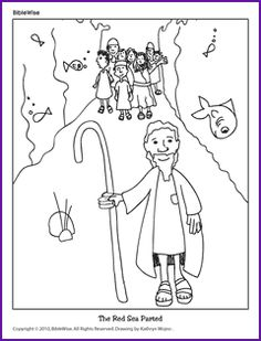 israelites cross the jordan river coloring pages | Exercise: Get out your crayons and color Moses in the Nile and The Red ...