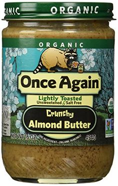 Once Again Organic Almond Butter, Crunchy, 16 Ounce *** Insider's special offer that you can't miss : baking desserts recipes
