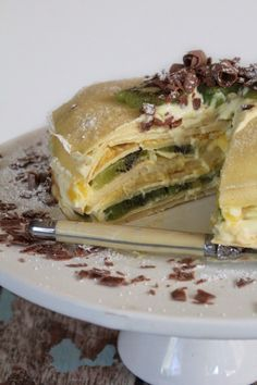 Life Love and Hiccups: Kiwi & Mango Crepe Cake - You May Stop Laughing Now!