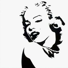 marilyn monroe black and white pop art - Google Search