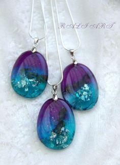 Resin real flower, gift pendant, Pendant resin lavender, Pendant resin lavender…