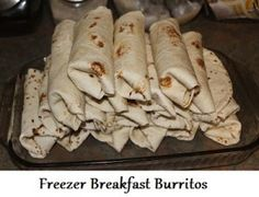 Fill your freezer with this easy recipe for breakfast burritos.