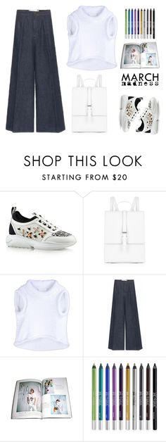 """""""vuitton sneakers"""" by bodangela ❤ liked on Polyvore featuring Meli Melo, Maison Margiela, Victoria, Victoria Beckham, Urban Decay and hightops"""