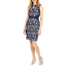 Buy Phase Eight Annie Jacquard Dress, Navy/Ivory Online at johnlewis.com