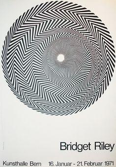 Bridget Riley exhibition Kunsthalle Bern, 1971 / image: Blaze 1, 1962 /