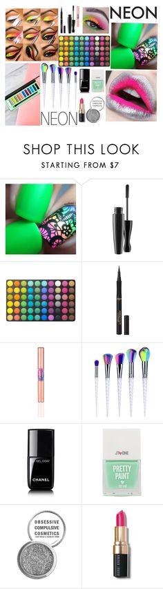 """""""Neon"""" by brownstb ❤ liked on Polyvore featuring beauty, MAC Cosmetics, BHCosmetics, L'Oréal Paris, Chanel, David Jones, Obsessive Compulsive Cosmetics and Bobbi Brown Cosmetics"""