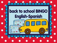 Back to school vocabulary bingo that helps reviewing classroom vocabulary.  English-Spanish $3.00
