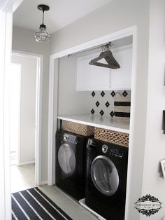 25 Ways to Give Your Small Laundry Room a Vintage Makeover Small laundry room ideas Laundry room decor Laundry room makeover Farmhouse laundry room Laundry room cabinets Laundry room storage Box Rack Home Laundry Nook, Laundry Room Doors, Small Laundry Rooms, Laundry Room Organization, Laundry Room Design, Laundry Closet Makeover, Laundry Drying, Laundry Baskets, Small Closets