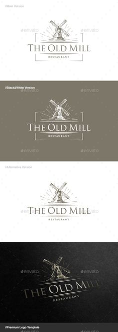 The Old Mill Logo — Vector EPS #product #light • Available here → https://graphicriver.net/item/the-old-mill-logo/15186110?ref=pxcr