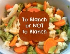 Stock Your Freezer - To Blanch or Not To Blanch Vegetables | PreparednedssMama
