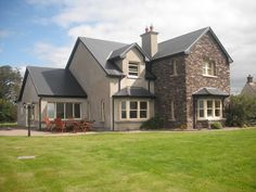 "ie is an Irish architectural design company geared towards people who are contemplating their own ""grand design"" or who are simply looking for room to improve their existing home. House Designs Ireland, Houses In Ireland, Dormer House, Dormer Bungalow, Style At Home, Porches, Bungalow Haus Design, Contemporary House Plans, House Blueprints"