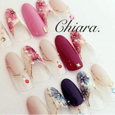 サンプルチップより♡春先に人気な Chiara. オリジナルdesignです♥︎お好きなカラーで♡Instagram → yochan4.nail|ネイルデザインを探すならネイル数No.1のネイルブック