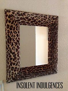 A Plush Fabric Leopard Print Mirror. via Etsy. lOVE ❤️