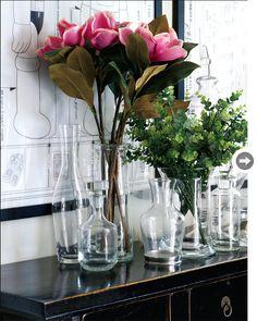 reminder... start collecting glass vases.