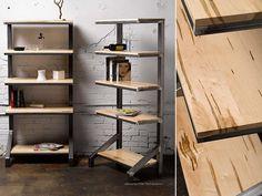 Custom Ambrosia Maple Bookshelves by Where Wood Meets Steel | CustomMade.com