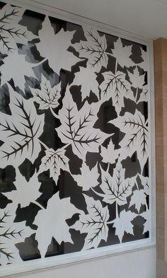 Window Leaf Laser Cut Material: steel 5mm Location: Roxy, Jakarta Incl installation