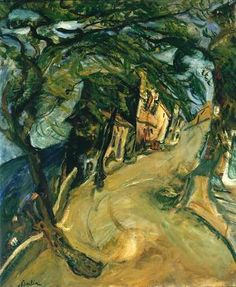 Soutine, Chaim (1893-1943) - 1924c. The Road up the Hill (Tate Gallery, London)  for more Amedeo Modigliani oil paintings please visit http://www.painting-in-oil.com/artworks-Modigliani-Amedeo.html