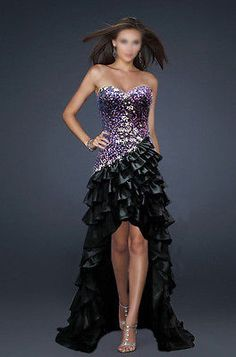 2014 New Hi-Lo Prom Evening Party Cocktail Homecoming dress Wedding Bridal gowns