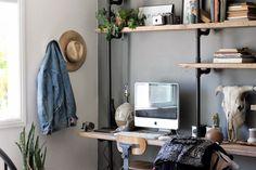 escritorio de tubería de acero | Casa Haus