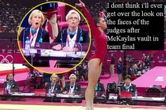 The look on the judges faces when McKayla Maroney completed her (almost) perfect volt at the 2012 London Olympics. Gymnastics Quotes, Olympic Gymnastics, Gymnastics Pictures, Gymnastics Things, Gymnastics Crafts, Gymnastics Funny, Gymnastics Skills, Gymnastics Videos, Soccer Quotes